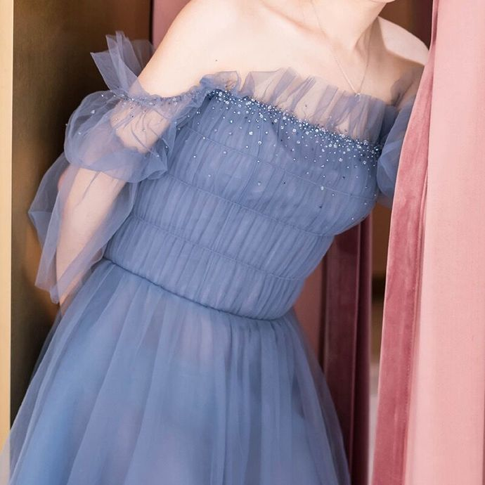 Princess Tulle Short Homecoming Dress, A Line Prom Dresses T1928