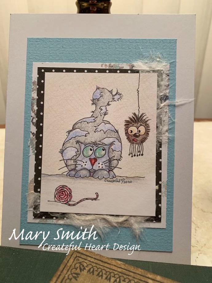 Rugglesworth & Pi, cat, spider, digital image, stamp, craft supply