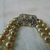 1930's art deco glass pearl double strand necklace silver clear crystal clasp