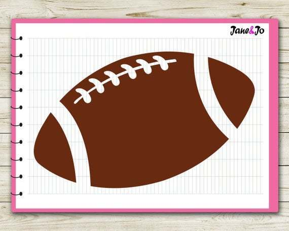 Football Svg Football Silhouette Files Dxf By Customizedsvg On Zibbet