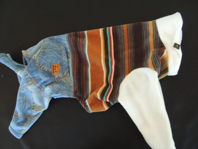 XL Wester Wag Jeans and Top Warm Dog Romper