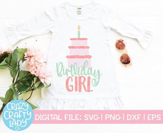 1st Birthday Svg Birthday Girl Cut File By Customizedsvg On Zibbet