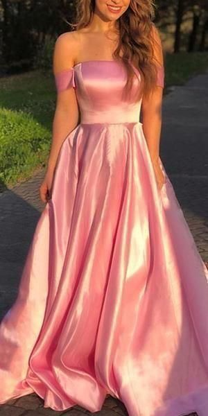 Fashion A Line Pink Long Prom Dress, Evening Gown T1941