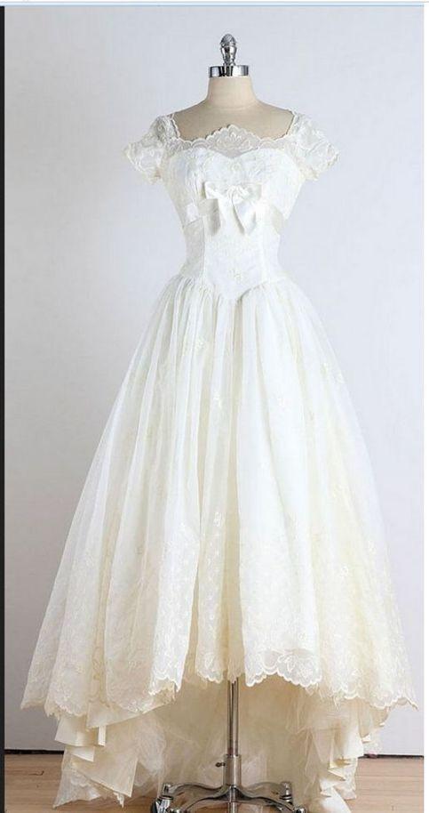 Fashion High Low Lace Prom Dress, Long Evening Dress T1966