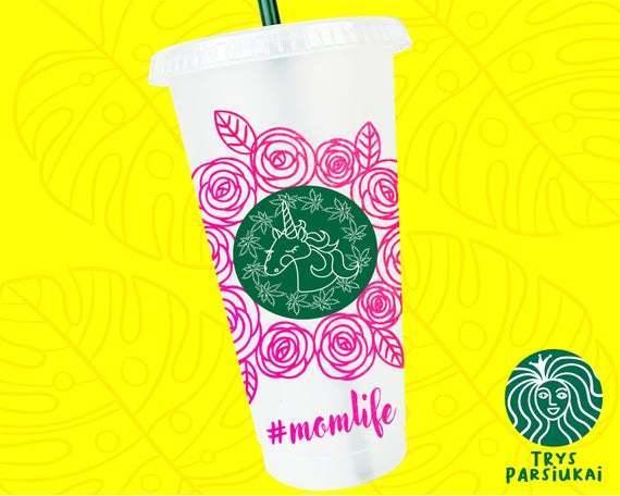 Starbucks Flower Svg Wrap Starbucks Pattern By Customizedsvg On Zibbet