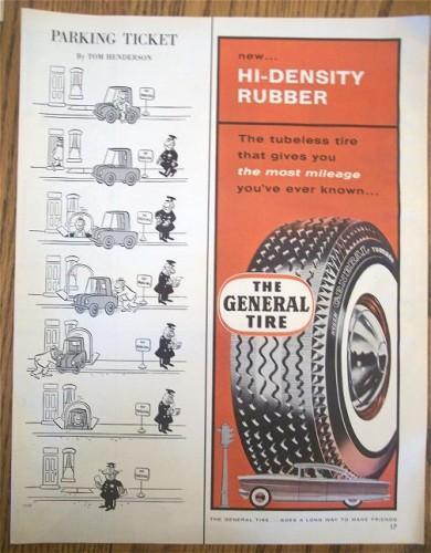 Vintage Tire Ad 1950s Magazine Print General Tire Wheels
