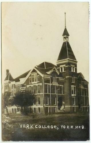 York Nebraska Postcard College Real Photo 1910s RPPC