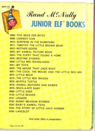 Little Tiger Vintage Childrens Book Rand McNally Jr Elf 8097