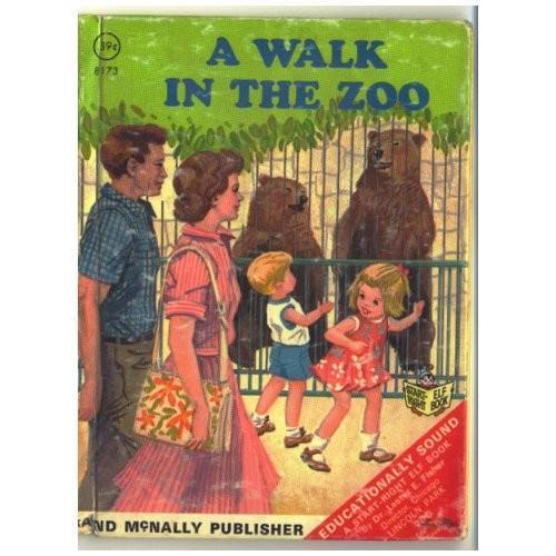 Vintage Childrens Book A Walk in the Zoo Rand McNally 8173