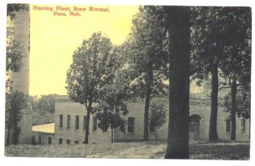 Vintage Peru Nebraska Postcard 1910s Heating Plant College Campus No. 34657