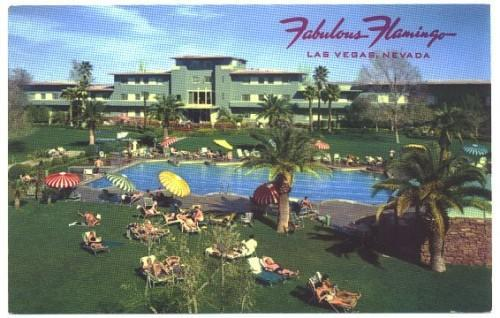Vintage Postcard Fabulous Flamingo Hotel Las Vegas Nevada Pool Side