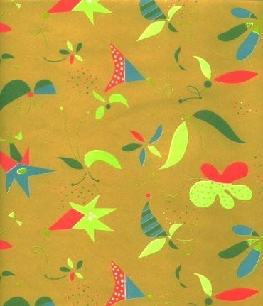 Vintage Wrapping Paper Funky Design 1960s Gift Wrap