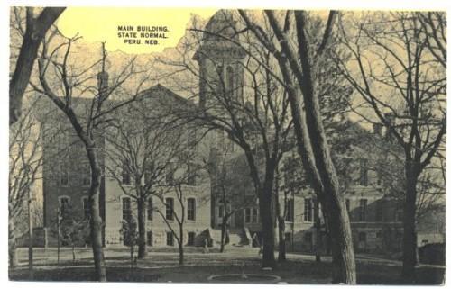 1910s Postcard Peru Nebraska Main Building College No. 15626