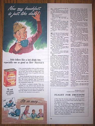 Vintage 1940s NESTLES COCOA AD Boy Scout Magazine Print Advertising