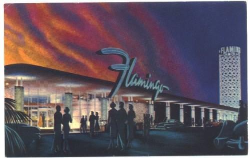 Vintage Postcard Fabulous Flamingo Hotel Las Vegas Nevada 1950s