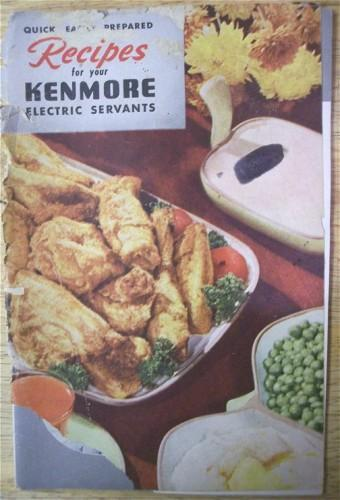 Vintage Cookbook Recipes for your KENMORE Electric Servants Sears 1940s