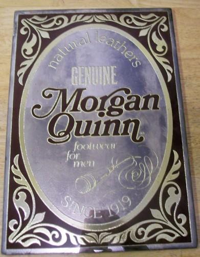 Morgan Quinn Shoe Advertising Mirror Vintage Store Sign 1980s, Man Cave Decor,