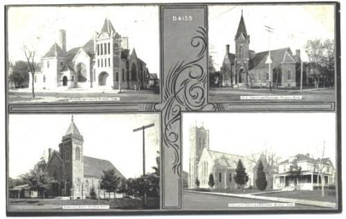 Multi View Postcard Beatrice Nebraska Vintage 1910s Churches