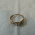 vintage joseph esposito 14kt. gp. three stone ring gold clear size 8-1/4 signed