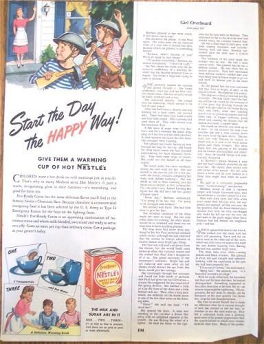 Nestles Cocoa Drink Vintage 1943 Color Print AD Advertising