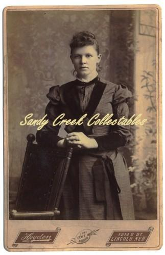 Victorian Lady Cabinet Antique Photo Hayden Lincoln Nebraska Ornate Chair