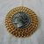 vintage KJL signed roman coin brooch gold plated pewter unused mint