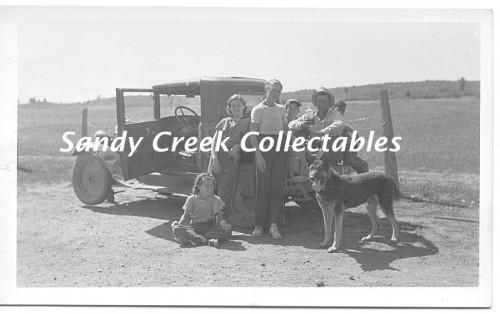 1930s Vintage Photo Pine Crest Colorado Ranch Klusmire German Shepherd