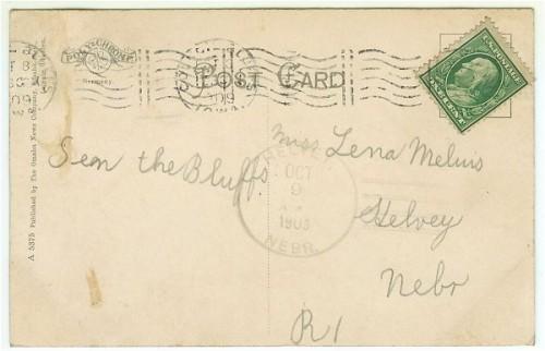 Council Bluffs Iowa Postcard Fairmount Band Stand 1900s View