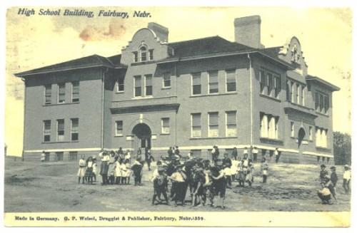 1900s Fairbury Nebraska Postcard High School Vintage View PC