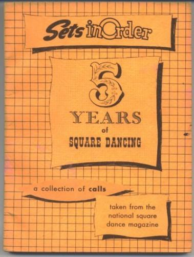 5 Years of Square Dancing Sets in Order 1954 Book Bob Osgood