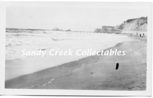 Vintage 1930s Photo Photograph Beach at San Francisco California