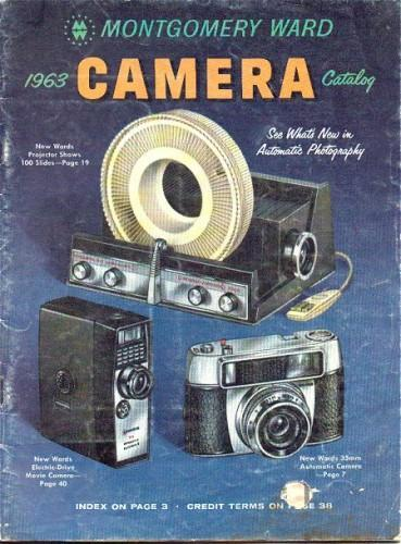Camera Catalog 1963 Montgomery Ward Vintage Nikon Kodak Fotron
