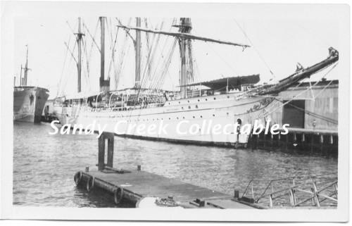 Vintage 1930s Photo Photograph Japanese Ship in San Diego Harbor