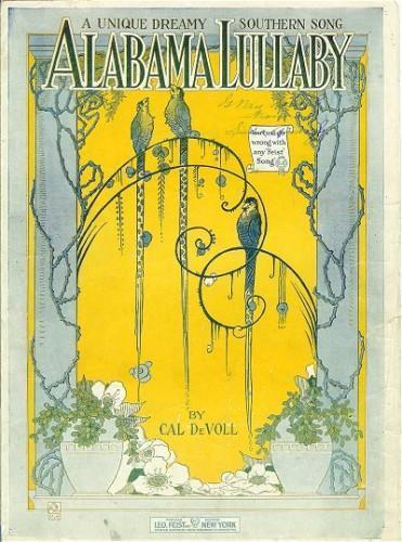 Vintage Sheet Music ALABAMA LULLABY 1919