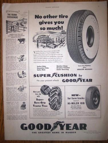 Vintage GOOD YEAR TIRES 1950 Print AD Advertising