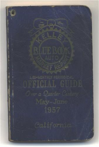 Vintage 1957 Kelley Bluebook Auto Market Report May June