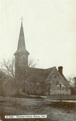 Vintage Postcard 1910s Hebron Nebraska Christian Church D 3249