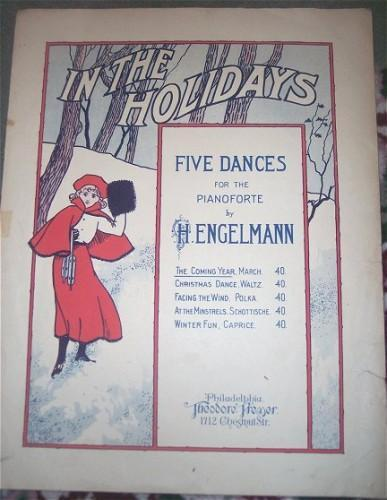 IN THE HOLIDAYS Vintage 1908 Christmas Holiday Sheet Music