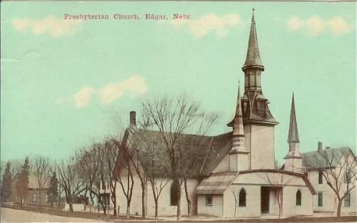 Vintage Postcard Edgar Nebraska Presbyterian Church 1910s