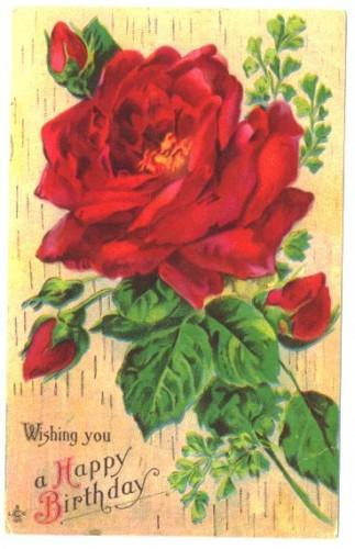 Vintage Happy Birthday Greeting By Sandycreekcollectables On Zibbet