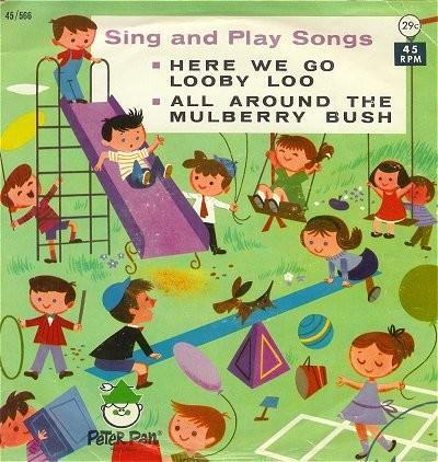 Vintage Childrens Record Sing and Play Songs 1960s Peter Pan 45