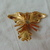 beautiful vintage crystal orchid flower brooch gold tone