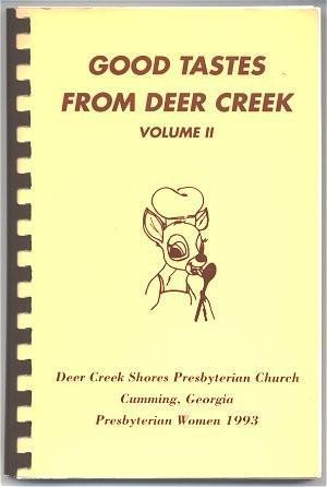 Cookbook Cumming Georgia Church Community 1993 Recipes