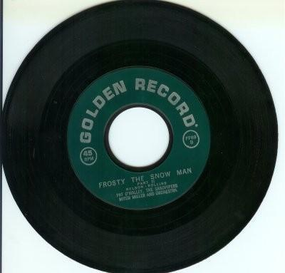 45 Record Frosty the Snow Man 1950s Childrens Golden