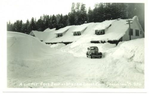 Mineral Lodge California Postcard 1940s RPPC Eastman Real Photo