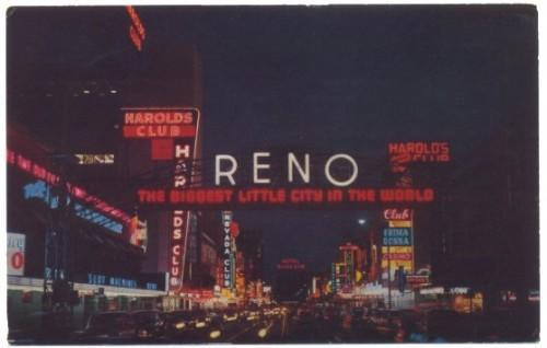 RENO Nevada Postcard Vintage Harolds Club Prima Donna