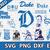 Duke Blue Devils digital file Logo Svg, Eps, Dxf, Png, budle svg for cricut,