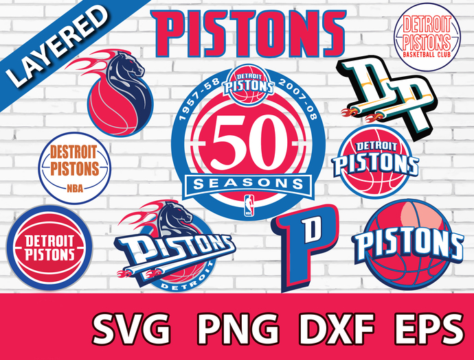 Detroit Pistons Digital File Logo Svg Eps By Lobet S Shop On Zibbet
