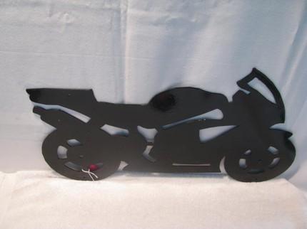 Motorcycle 1 Wall Art  Metal Silhouette
