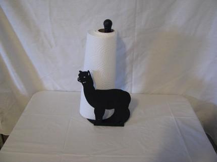 Alpaca Paper Towel Holder Metal Wall Art Farm Silhouette